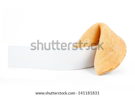 Fortune Cookie with Blank Message  - stock photo
