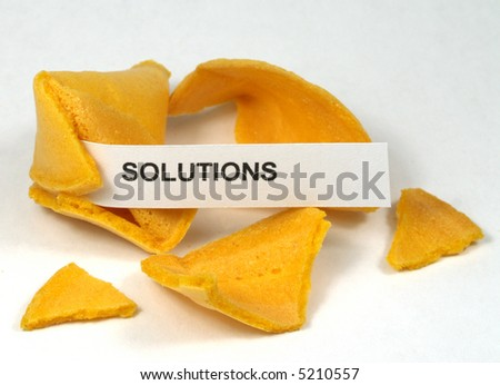 FORTUNE COOKIE WITH SOLUTIONS TEXT