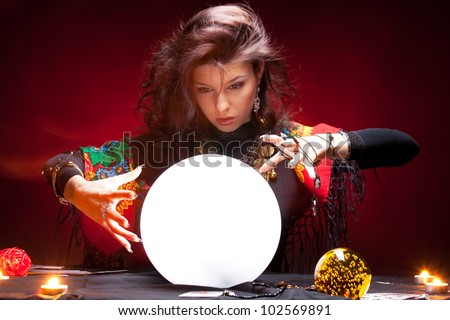 Fortune Teller Crystal Ball Stock Images, Royalty-Free Images ...