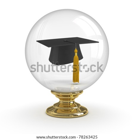 Fortune Teller - Graduation. clipping path included. - stock photo