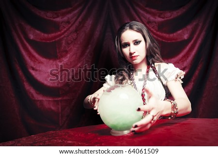 fortuneteller with crystal ball