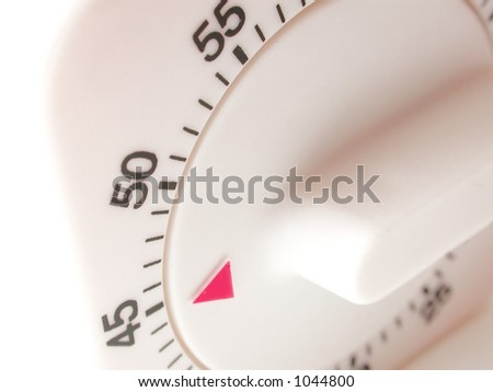 forty-five minutes left on kitchen timer - stock photo
