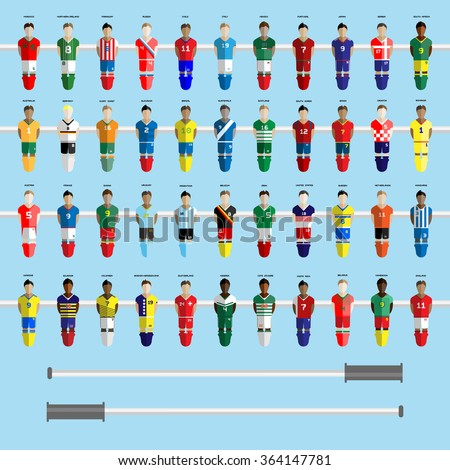 Infographic Ideas infographic soccer : Football Club Soccer Players Silhouettes Computer Stock Vector ...