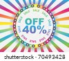 forty percent discount - stock vector