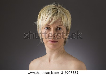 Forty years woman - stock photo