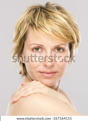 Forty years woman beauty - stock photo