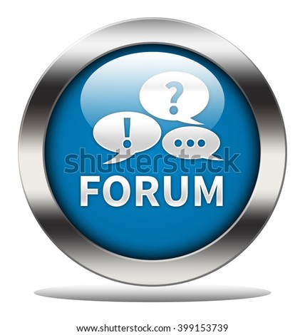 forum button isolated - stock photo