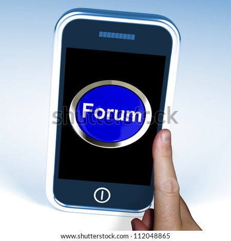 Forum Button On Mobile Showing Social Media Or Information