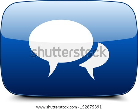 Forum Chat Blog button - stock photo