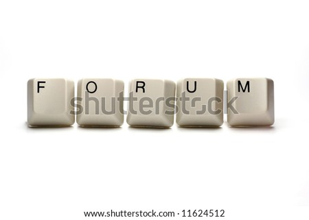 forum - computer keys, isolated an white
