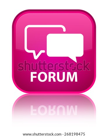 Forum pink square button