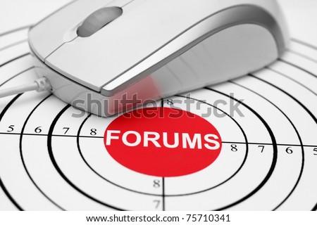 Forum target - stock photo