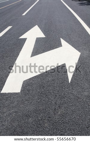 forward and right turn driving of traffic signs
