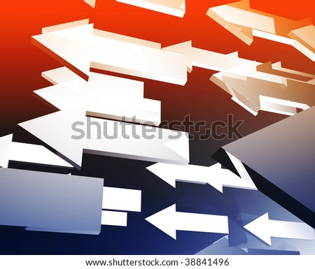 Forward moving arrows flying group design illustration