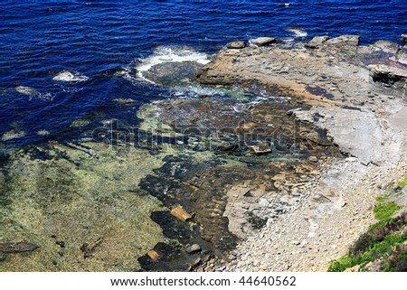 Fossil Cliff at Maria Island - stock photo