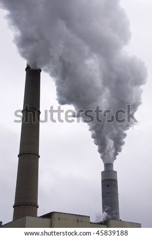 Fossil fuel smoke pollution.