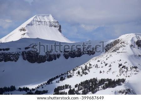 Fossil Peak, Teton Mountains, Wyoming - stock photo