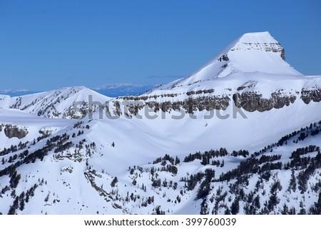 Fossil Peak, Wyoming - stock photo