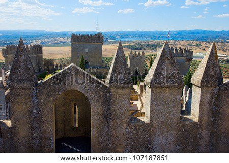 fotification of  of Almodovar del Rio castle, Cordoba, Spain - stock photo