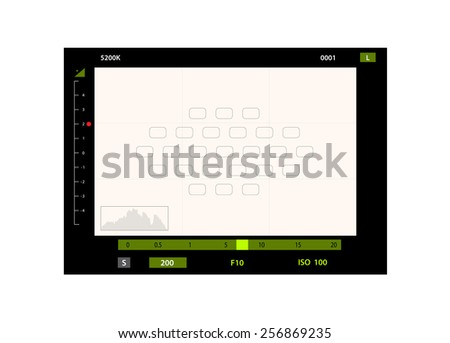 Foto camera the image via the view-finder - stock photo