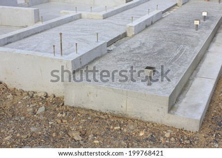 House foundation stock images royalty free images for New home foundation