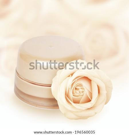 Foundation cream.   - stock photo