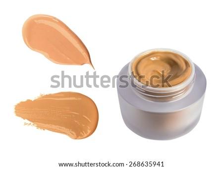 Foundation cream bottle isolated on white background. Concealer - stock photo