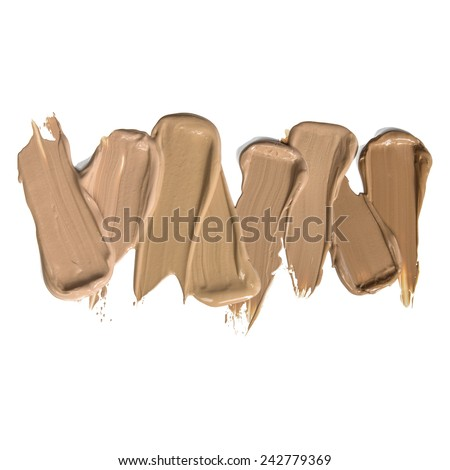 Foundation makeup shades smears samples  - stock photo