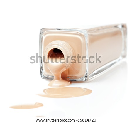 foundation on a white background - stock photo