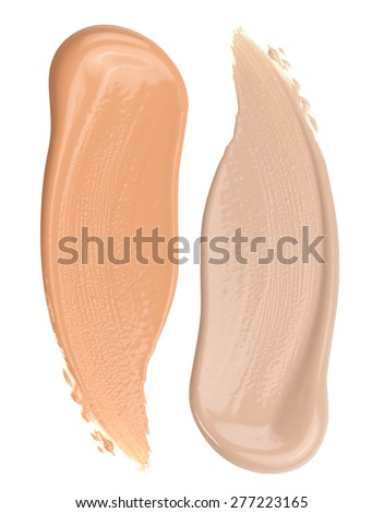 Foundation Swatches Isolated on White