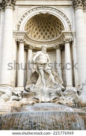 Fountain di Trevi in Rome, Italy, close up - stock photo