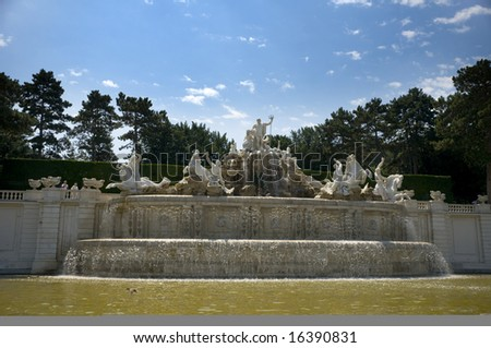 Fountain from Shonbrrun palace in Vienna