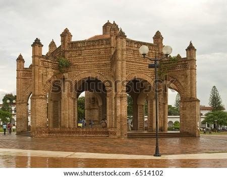 Fountain in Chiapa de Corzo, Chiapas, Mexico - stock photo