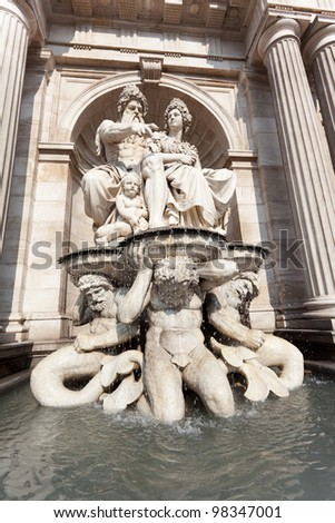 Fountain in front of Albertina, Vienna