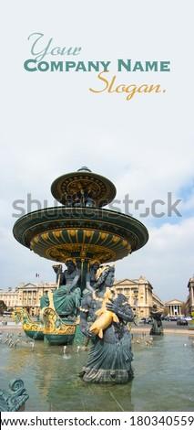 Fountain in Place de la Concorde, Paris, France - stock photo