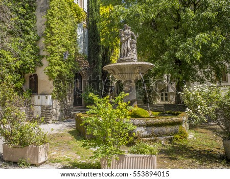 Fountain in Saignon, Provence, France
