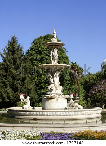 fountain in the gardens of the Royal Palace