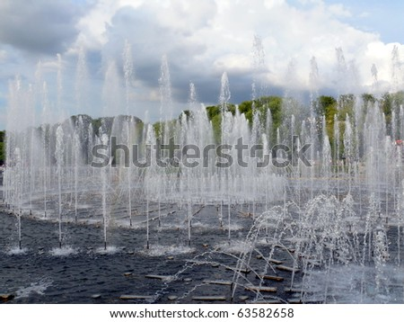 Fountain in Tsaritsino, Moscow - stock photo