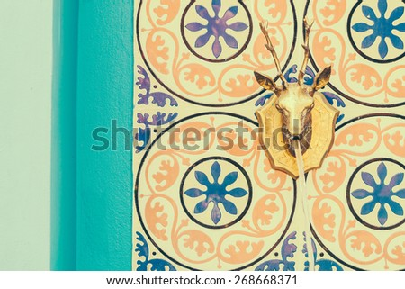 Fountain Morocco architecture style - vintage effect style pictures - stock photo