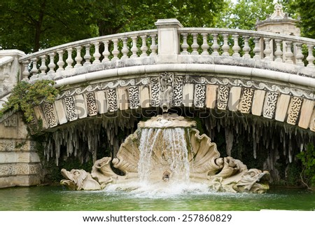 Fountain of Darcy park in Dijon , France. - stock photo