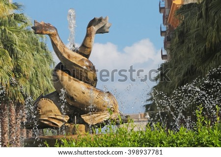 Fountain of Maria Immacolata Square, Taranto, Italy