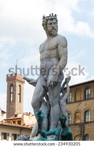 Fountain of Neptune - stock photo