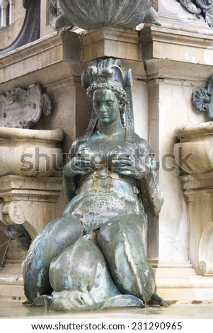 Fountain of Neptune, Bologna - stock photo
