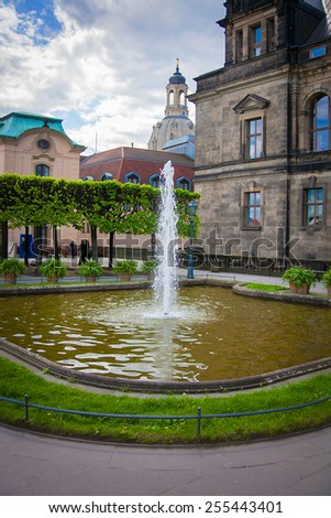 Fountain of the Zwinger palace Dresden, Germany - stock photo