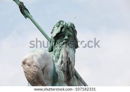 Fountain of Zeus in Berlin - stock photo