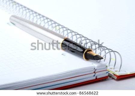 fountain pen and notebook close-up