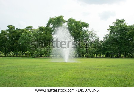 Fountains in park