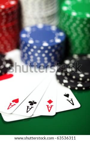 Four aces - stock photo