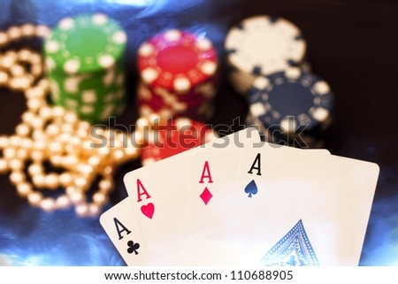 Four Aces/Good Hand - stock photo