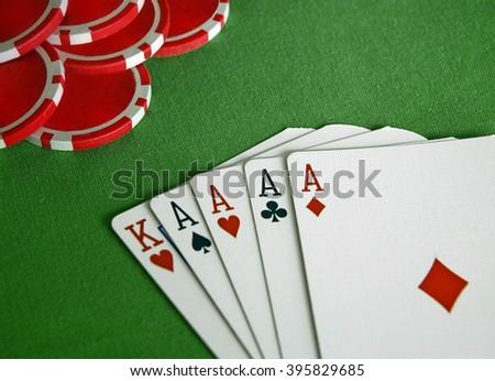 Four Aces Poker - stock photo
